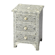 Butler Bone Inlay Vivienne Accent Chest in Grey/White 3202321