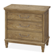 Universal Moderne Muse 3 Drawer Nightstand in Bisque 414350