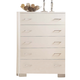 ACME London 5-Drawer Chest  in White 21066