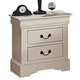 ACME Louis Philippe III Drawer Nightstand in Cream 22503