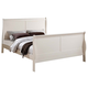 ACME Louis Philippe III Queen Panel Bed in Cream 22500Q