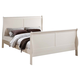 ACME Louis Philippe III King Panel Bed in Cream 22497EK
