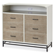 Smartstuff myRoom 6 Drawer Dressing Chest in Gray and Parchment 5321004