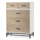 Smartstuff myRoom 5 Drawer Chest in Gray and Parchment 5321010 CLEARANCE