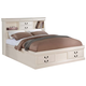 ACME King Bed w/ Storage in Cream 24397EK