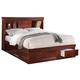 ACME Louis Phillipe III King Bed w/ Storage in Cherry 24377EK