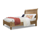 Cresent Fine Furniture Cottage Queen Sleigh Panel Bed in Weathered Natural
