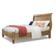 Cresent Fine Furniture Cottage King Sleigh Storage Bed in Weathered Natural