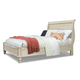 Cresent Fine Furniture Cottage Queen Sleigh Panel Bed in Antique White