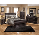 Esmarelda Sleigh Bedroom 6pc Set in Dark Merlot