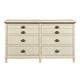 Stone & Leigh Driftwood Park Drawer Dresser in Vanilla Oak 536-23-02
