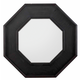 Hooker Furniture Saint Armand Hexagon Mirror in Black 5602-90007
