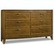 Hooker Furniture Retropolitan 6 Drawer Dresser in Natural Cherry 5510-90002-MWD