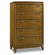 Hooker Furniture Retropolitan 5 Drawer Chest in Natural Cherry 5510-90010-MWD