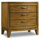 Hooker Furniture Retropolitan 3 Drawer Nightstand in Natural Cherry 5510-90015-MWD
