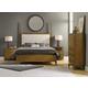 Hooker Furniture Retropolitan 4-Piece Poster Bedroom Set in Natural Cherry