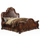 Acme Dresden King Upholstered Bed in Cherry Oak 23137EK