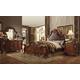 Acme Dresden Upholstered Bedroom Set in Cherry Oak