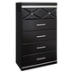 Francee Five Drawer Chest in Black B348-46