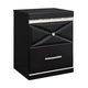 Francee Two Drawer Nightstand in Black B348-92