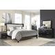 Francee 4-Piece Panel Bedroom Set in Black