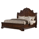 Samuel Lawrence Furniture Monticello Queen Sleigh Bed in Warm Mellow Pecan Finish 8264-252