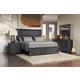 Pulaski Vintage Tempo 4pc Platform Bedroom Set in Black