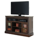 North Shore Large TV Stand w/ Fireplace Option in Dark Brown W553-68
