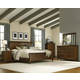 A-America Westlake Platform Bedroom Set in Brown Cherry