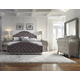 Pulaski Rhianna Upholstered Bedroom Set in Silver Patina