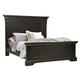 Pulaski Caldwell Queen Panel Bed in Dark Wood