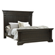 Pulaski Caldwell King Panel Bed in Dark Wood