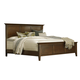 A-America Westlake King Platform Bed in Brown Cherry WSLCB5130