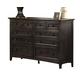 A-America Westlake Master Dresser in Dark Mahogany WSLDM5510
