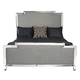 Bernhardt Criteria California King Metal Upholstered Panel Bed 363-HFR05