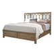 Aspenhome Tildon Cal King Mirrored Panel Storage Bed in Mink I56-495;I56-410;I56-407D