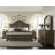 Pulaski Quentin Upholstered Bedroom Set in Medium Wood