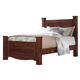Brittberg Queen Poster Bed in Warm Brown