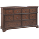 Aspenhome Bancroft 6 Drawer Dresser in Java I08-453