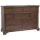 Aspenhome Bancroft 9 Drawer Chesser in Java I08-455