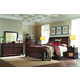 Aspenhome Bancroft 4pc Sleigh Bedroom Set in Java