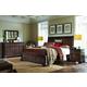 Aspenhome Bancroft 4pc Sleigh Storage Bedroom Set in Java