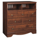 Brittberg Media Chest in Warm Brown B265-39