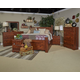 Brittberg 4-Piece Poster Bedroom Set in Warm Brown