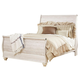 Willowton Queen Sleigh Bed in White Wash