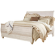 Willowton King Sleigh Bed in White Wash