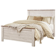 Willowton Queen Panel Bed in White Wash