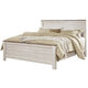 Willowton King Panel Bed in White Wash