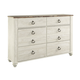 Willowton Dresser in Wash White  B267-31