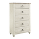 Willowton Drawer Chest in Wash White B267-46